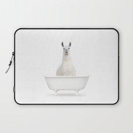 llama in a Vintage Bathtub (c) Laptop Sleeve