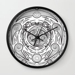 Pancuecuetlacayan level from the mexican underworld Wall Clock