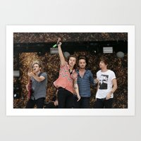 one direction Art Prints featuring One Direction by behindthenoise