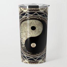 Yin Yang Geometry Mandala V1 Travel Mug