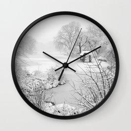 Snow Day New York City Wall Clock