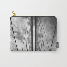 New York - Brooklyn Bridge, Black and White Carry-All Pouch