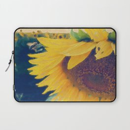 sunflower and little bee Laptop Sleeve