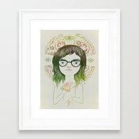 daria Framed Art Prints featuring Daria by Nina Le Corre