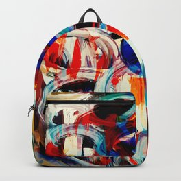 Abstract Action American Painting Backpack