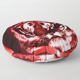 Fierce Red Tiger Floor Pillow