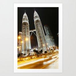 Kulala Lumpur Petronas twin towers. Art Print