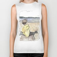 cape cod Biker Tanks featuring Cape Cod by Katerina Skassi