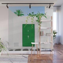 Green Door Wall Mural