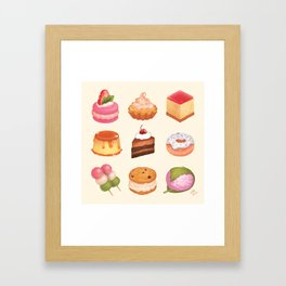 Desserts Framed Art Print
