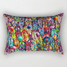 Boho feathers and gems Rectangular Pillow