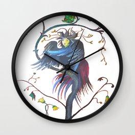 Gamaun Halloween Prophetic Raven Vector Wall Clock