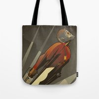 star lord Tote Bags featuring The Star-Lord by Danny Haas