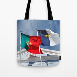 Portugal and Azores flags Tote Bag