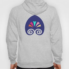 Multicolored fans and stripes pattern Hoody