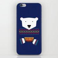 polar bear iPhone & iPod Skins featuring Polar Bear by Marco Recuero