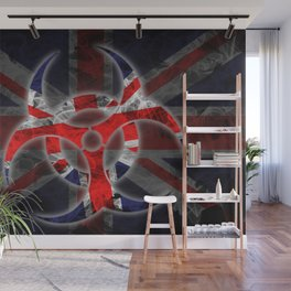 Biohazard Great Britain, Biohazard from Great Britain, Great Britain Quarantine Wall Mural