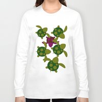 turtles Long Sleeve T-shirts featuring Turtles  by MillennialBrake