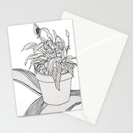 Drawing Peace Lily Stationery Cards