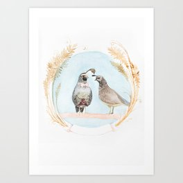 Wedding Quail Art Print