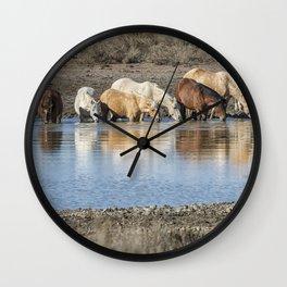 Bachelor Band at the Waterhole Wall Clock