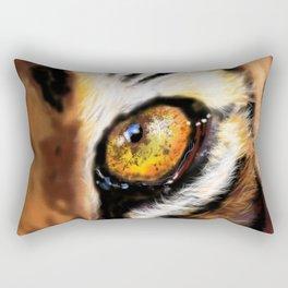 The Eye of the Tiger Rectangular Pillow