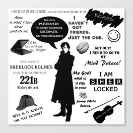 Sherlock Holmes Quotes Canvas Print