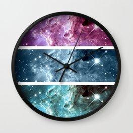 nebulA : Monkey Head Nebula Panel Art Wall Clock