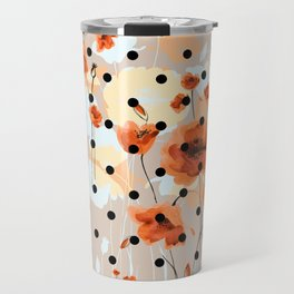 Abstract floral seamless pattern with field poppies Travel Mug