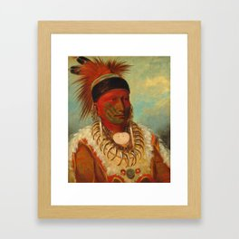 The White Cloud, Head Chief of the Iowas, Catlin Framed Art Print