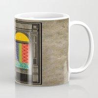 mandie manzano Mugs featuring Shop windows by Megs stuff...