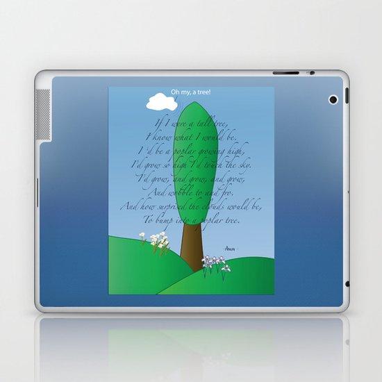 Poplar Tree Poem Laptop & iPad Skin