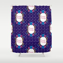 Cute Feminist Killjoy Floral Pattern Shower Curtain