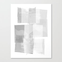 "Grey and White Minimalist Geometric Abstract ""Building Blocks"" Canvas Print"