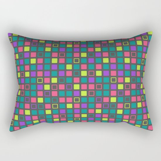 Night On The Town Square Pattern Rectangular Pillow