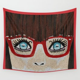 The Girl With The Red Glasses Wall Tapestry