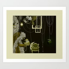 This is me, my Mum and my Dad, when I was very little. Art Print