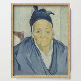 An Old Woman of Arles Serving Tray