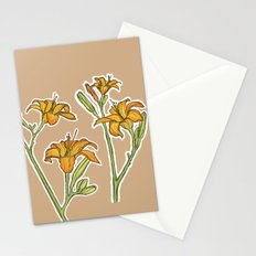 Orange lilies Stationery Cards