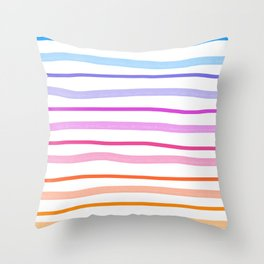 happy multicolored stripes Throw Pillow