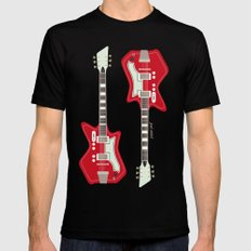 Airline Guitar Mens Fitted Tee Black MEDIUM