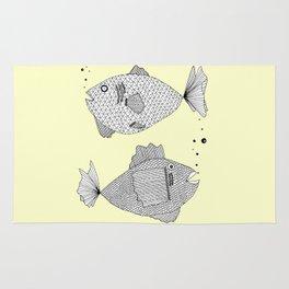 2 fish Rug