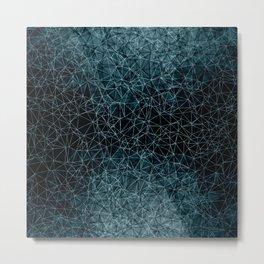 Polygonal blue and black Metal Print