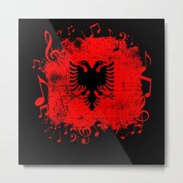 Albania Music Flag Metal Print