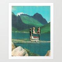 Folksy Art Youth Art Print