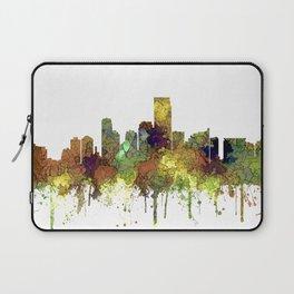 Jersey City Skyline - Safari Buff Laptop Sleeve