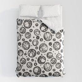Sketchy Balls Pattern Comforters