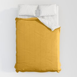 Bright Beer Yellow Simple Solid Color All Over Print Comforters