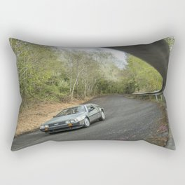 DELOREAN AT FACTORY TEST TRACK Rectangular Pillow