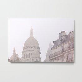 Fog coeur Metal Print
